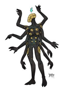 Character/creature concept for Irshaanic Confluence. (C) D3 Adventures 2014