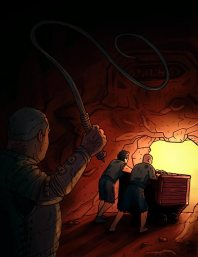 Cover illustration for Escape from the Lazurite Mines. (C) D3 Adventures 2015