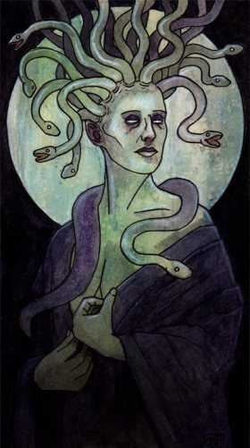 Private commission: Euryale--second-eldest of the three Gorgon sisters from Greek mythology
